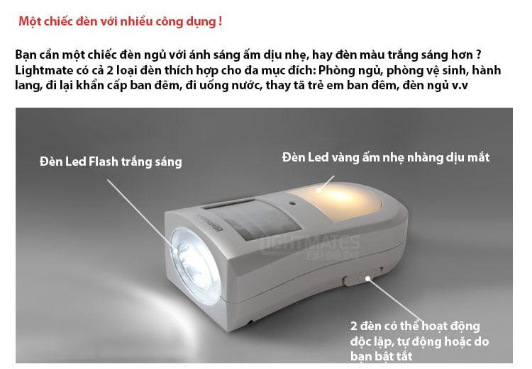 Đèn cảm ứng ánh sáng thân nhiệt thông minh