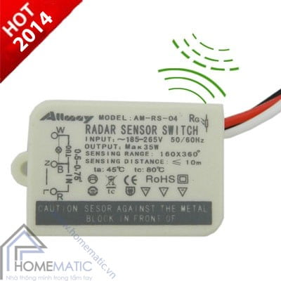 Công tắc cảm ứng chuyển động cảm biến radar + ánh sáng Allmay