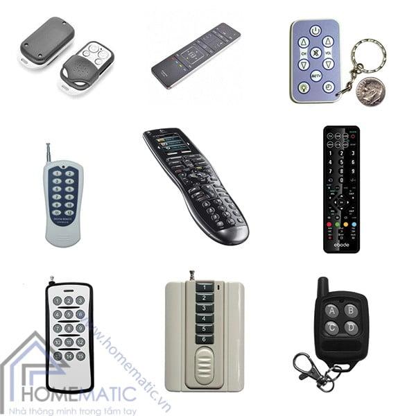 Các loại remote điều khiển từ xa không dây các thiết bị thông minh, các loại remote đa năng điều khiển đồ gia dụng trong gia đình. width=