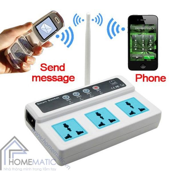 Ổ cắm điều khiển từ xa bằng sim điện thoại SC3-GSM