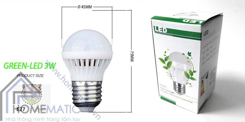 Bóng đèn LED siêu tiết kiệm điện GREEN-LED 3W