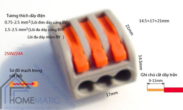 Cút nối dây điện KV774
