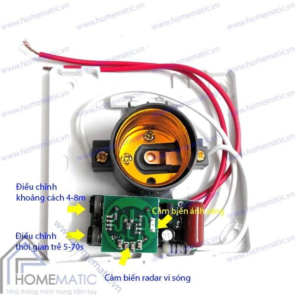 Đui đèn thông minh cảm ứng chuyển động radar và ánh sáng YFRL01