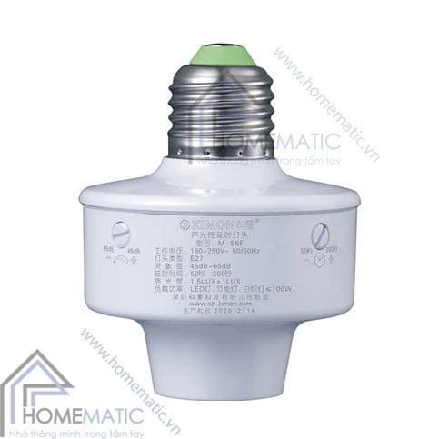 Đui đèn cảm ứng âm thanh ánh sáng Kimon M-56F