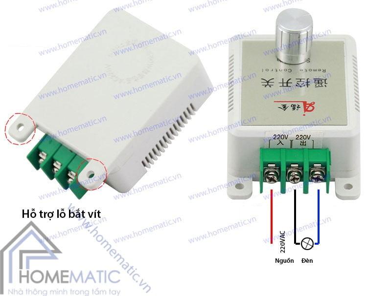 Cách nối dây Công tắc cảm ứng âm thanh vỗ tay bật tắt đèn SRS01
