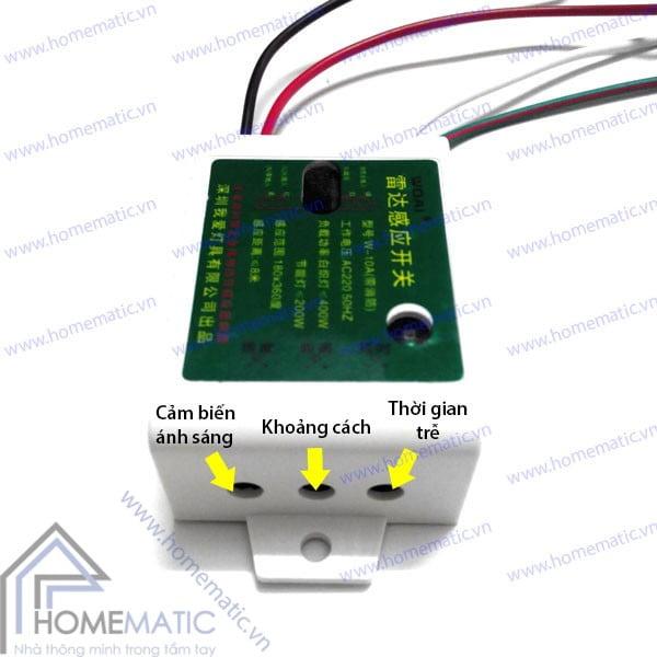 Công tắc cảm ứng radar vi sóng WOAI hỗ trợ công tắc tay