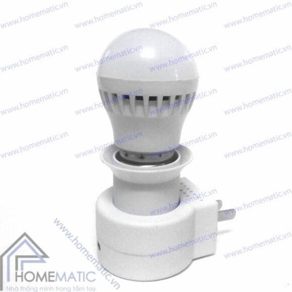 Đui đèn điều khiển từ xa bằng remote TV không cần học lệnh LK-201