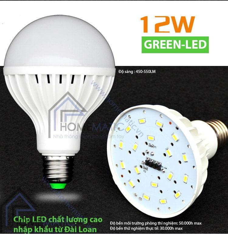 Bóng đèn LED siêu tiết kiện điện GREEN-LED 12W
