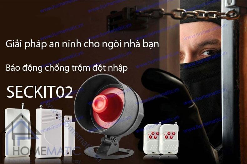 Bộ kít báo động chống trộm đột nhập loa to SECKIT02