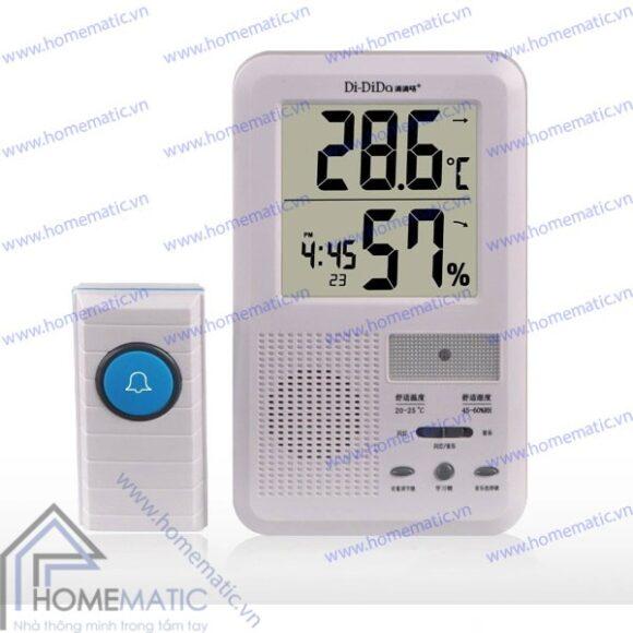 Chuông không dây kiêm màn hình nhiệt độ, độ ẩm