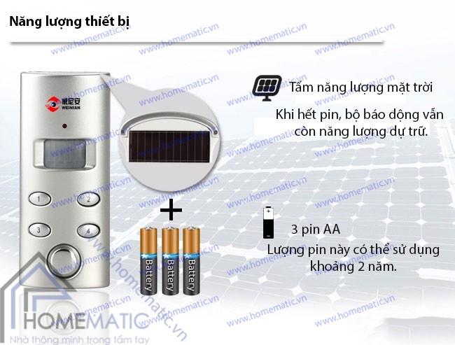 Báo động hồng ngoại năng lượng mặt trời WEINIAN D82