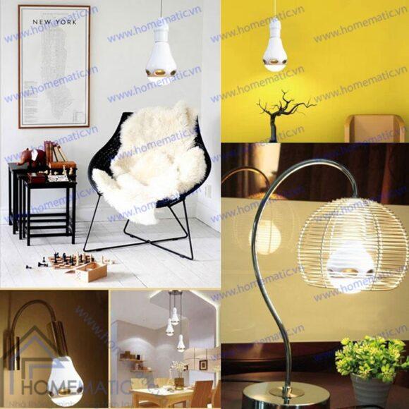 Đèn LED đổi màu kiêm bluetooth và loa