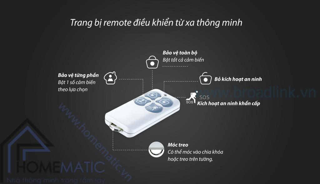 Với remote đi kèm, Broadlink Smartone S1 có thể được điều khiển một cách nhanh chóng