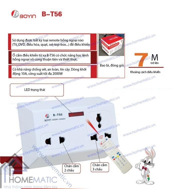 Ổ cắm học lệnh hồng ngoại IR BOYIN B-T56
