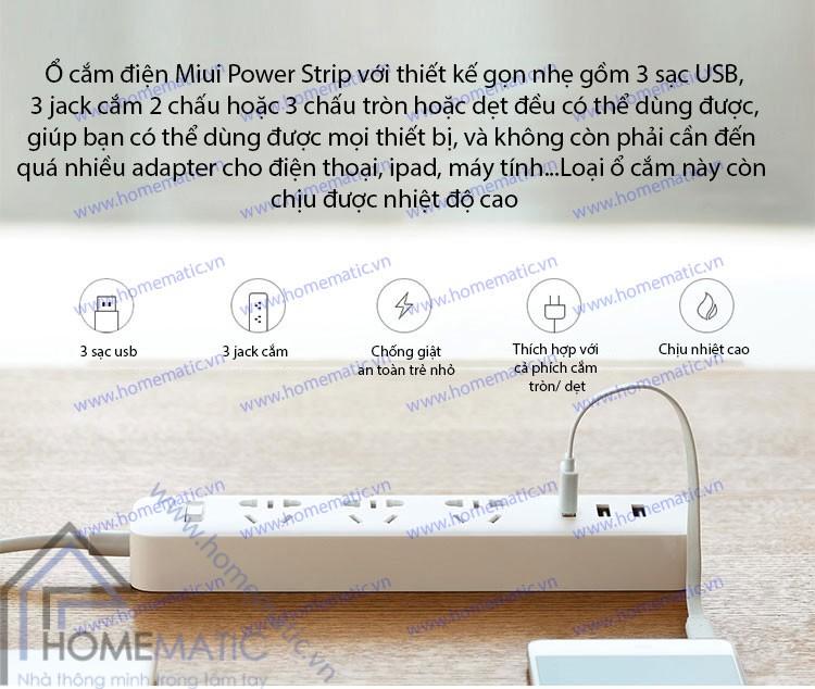 ổ cắm thời trang, bảo vệ thiết bị điện Xiaomi