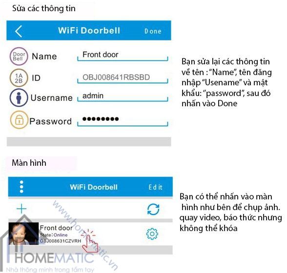 chuông cửa wifi KONX