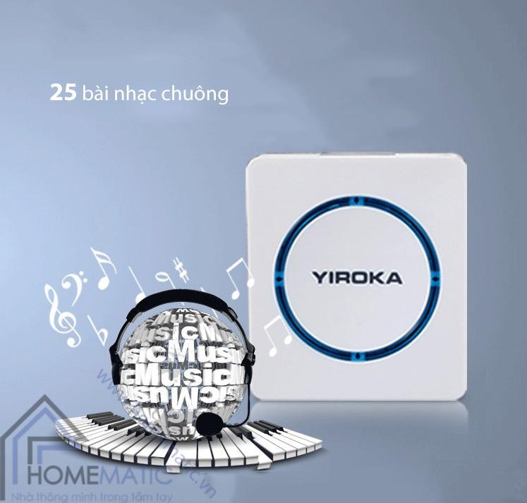 Chuông cửa không dây chống nước Yiroka Z-289
