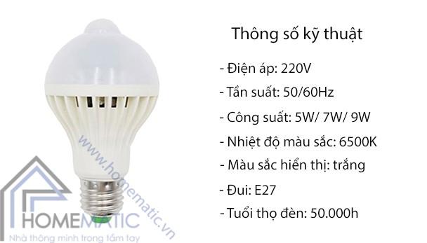 Đèn LED cảm ứng chuyển động PIR