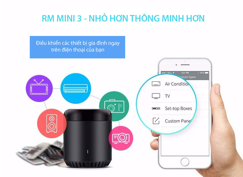 Bộ mở rộng hồng ngoại Broadlink RM mini 3