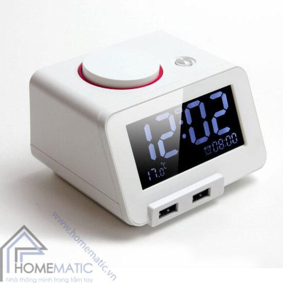 đồng hồ báo thức kỹ thuật số kiêm bộ sạc USB Homtime C1