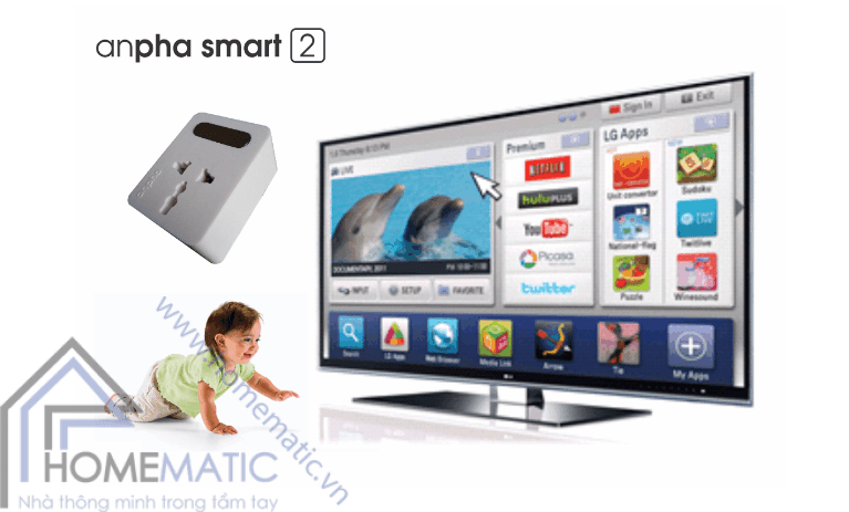 ổ cắm điện thông minh anpha smart 2