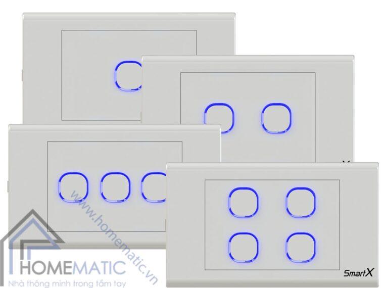 Công tắc thông minh Homematic hỗ trợ rất nhiều mặt nắp lỗ tròn của các hãng trên thị trường