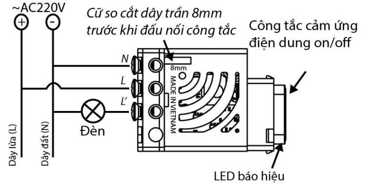 hướng dẫn đấu nối dây điện vào công tắc điều khiển từ xa homematíc