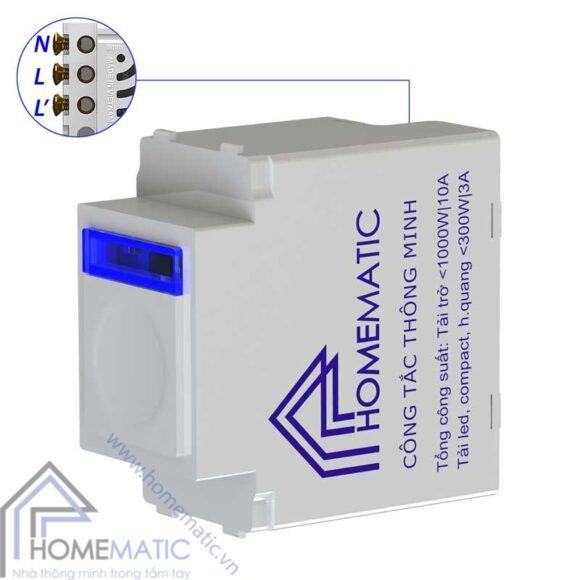 Công tắc thông minh điều khiển từ xa Homematic dành cho hạt panasonic dòng Full