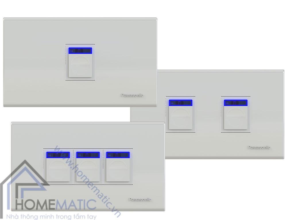 Công tắc điều khiển từ xa thông minh hỗ trợ 3 công tắc trên 1 mặt công tắc Panasonic