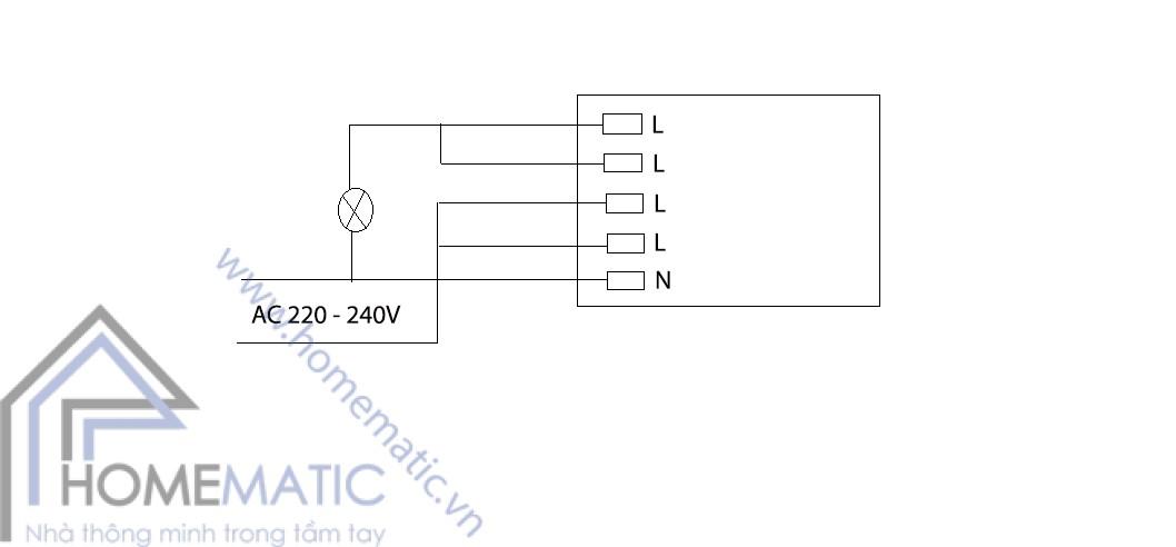 Công tắc cảm biến radar vi sóng M003