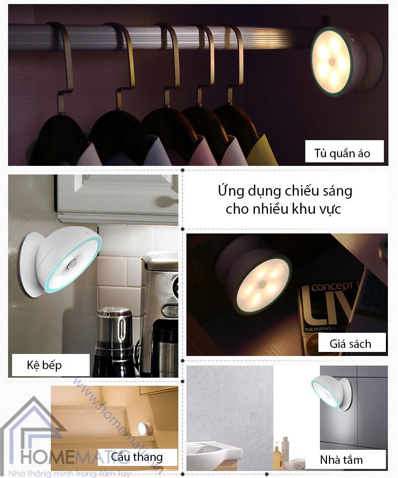 Đèn led đêm, đèn ngủ tự bật tắt, đế giữ nam châm xoay AHD-1703/C