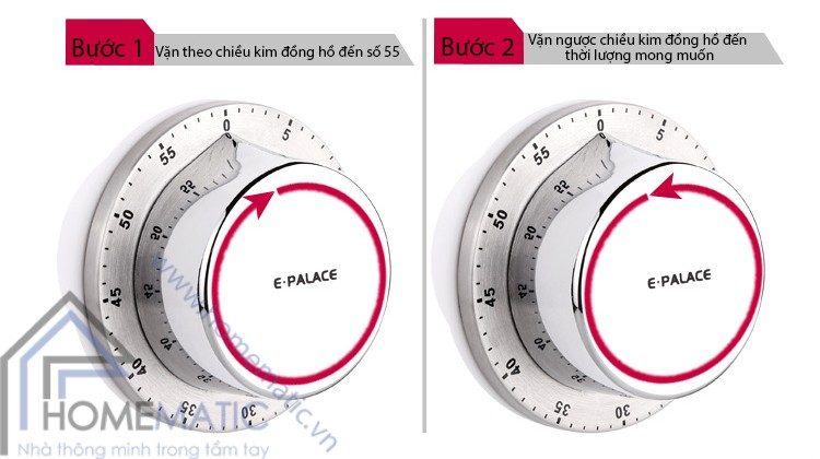 Đồng hồ hẹn giờ nấu ăn E Palace EM 54007 M