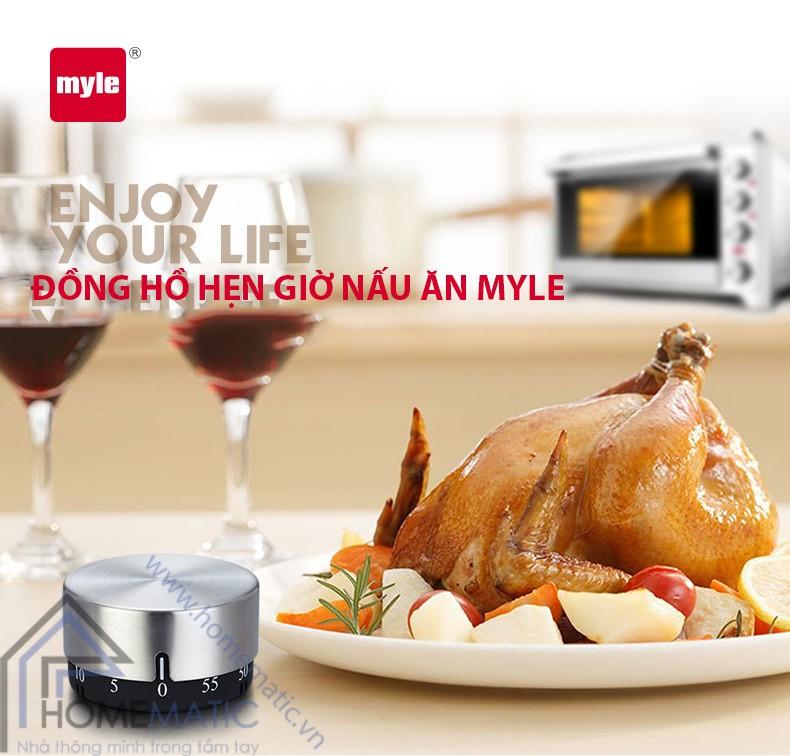 Đồng hồ hẹn giờ nấu ăn Inox Myle