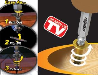 Bộ dụng cụ tháo đinh ốc vít tòe đầu Speedout SOR82