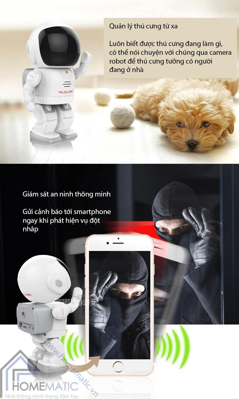 Sản phẩm cần bán: Camera giám sát thông minh Homematic.vn_camera-robot-bao-dong-chong-trom-audube-a18011