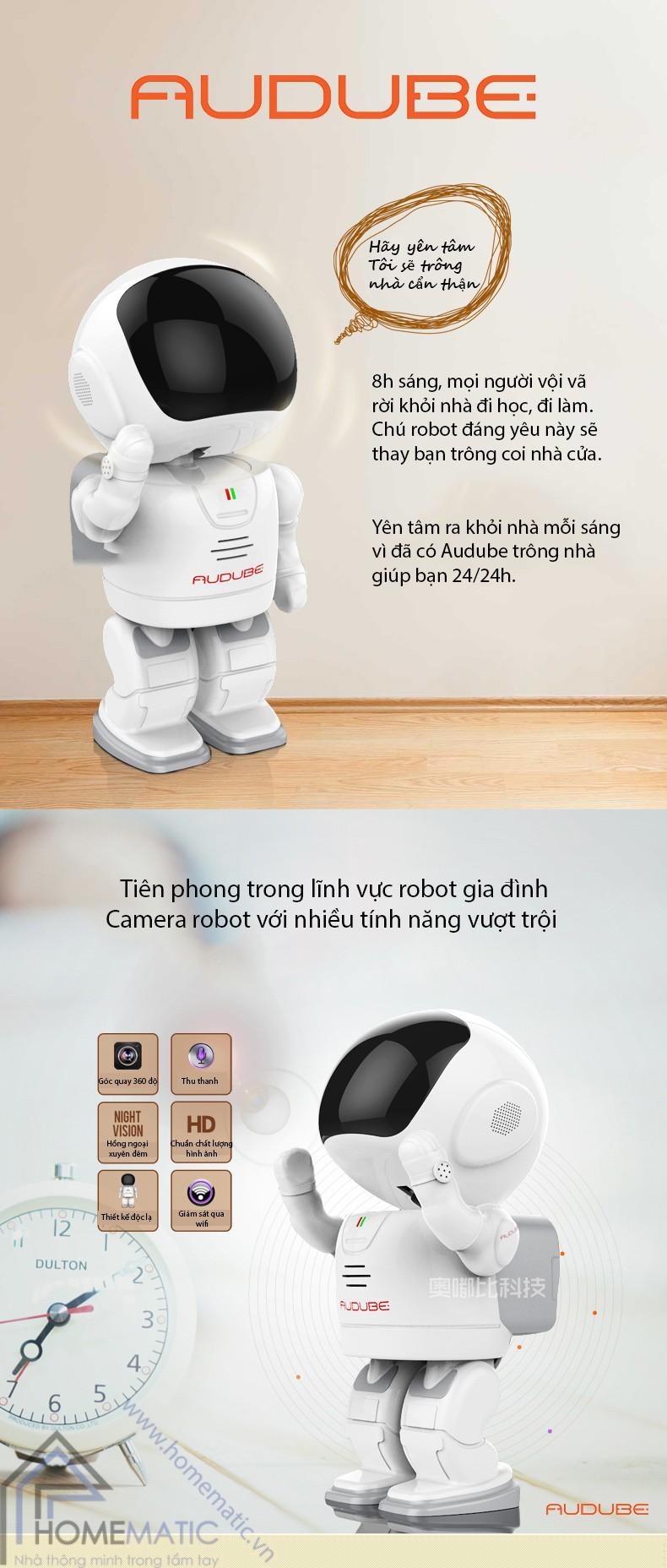 Sản phẩm cần bán: Camera giám sát thông minh Homematic.vn_camera-robot-bao-dong-chong-trom-audube-a1803