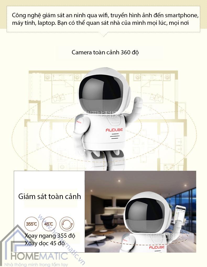 Camera robot báo động chống trộm Audube A180