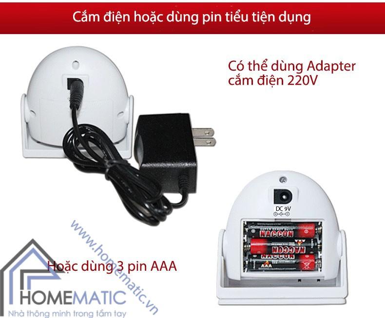 Chuông báo khách báo trộm cảm ứng chuyển động có remote 9915IR