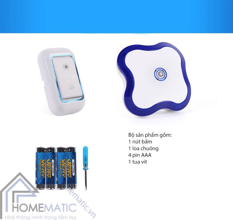 Chuông không dây kiêm đèn ngủ Smart Bell SB-8888