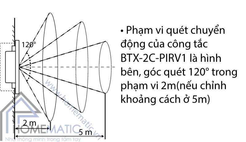Công tắc cảm biến chuyển động hồng ngoại BATTO BTX-2C-PIRV1 cách lắp đặt