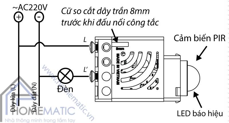 Công tắc cảm biến chuyển động hồng ngoại BATTO BTX-2C-PIRV1