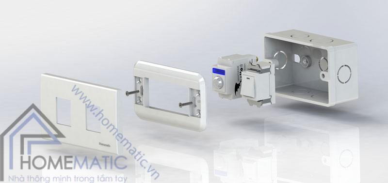 Công tắc cảm biến chuyển động hồng ngoại BATTO BTX-2PF-PIRV1 (hạt pana full)