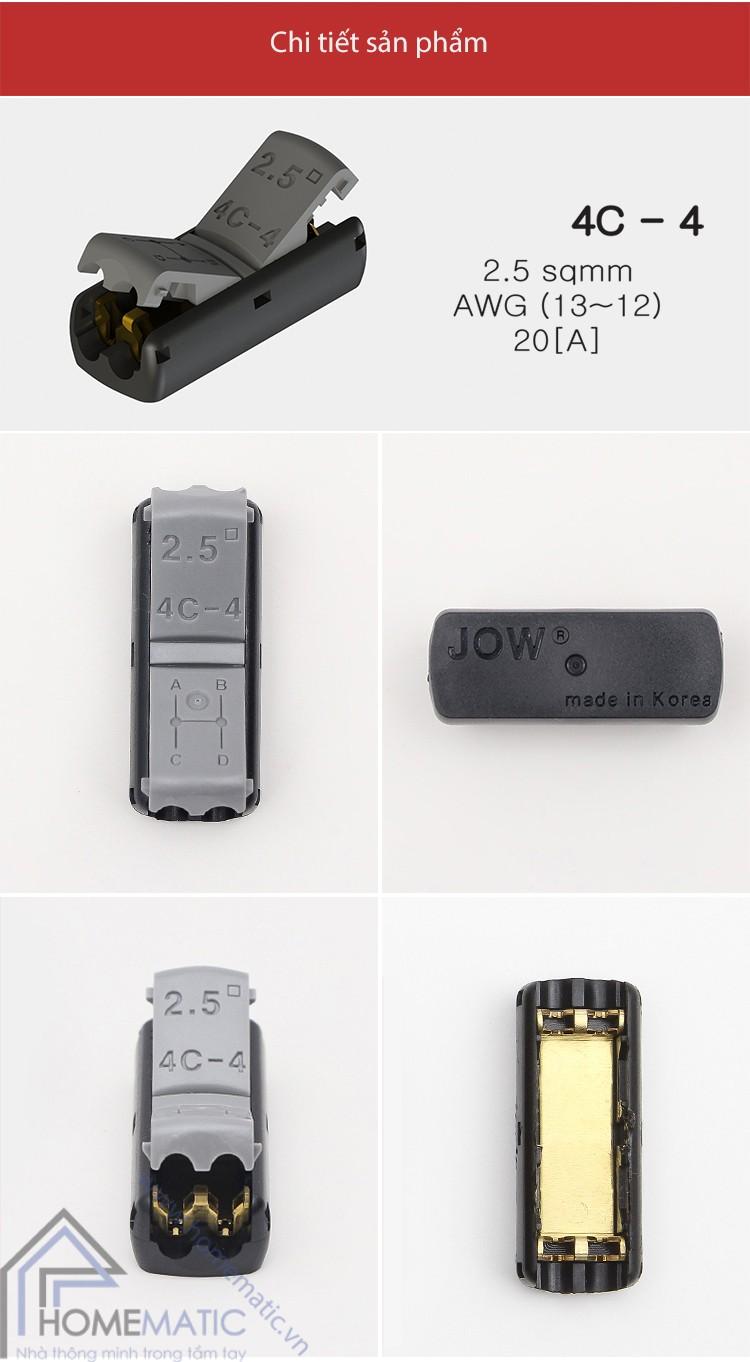 Cút nối 1 đầu ra nhiều đầu dây điện Hàn Quốc JOWX