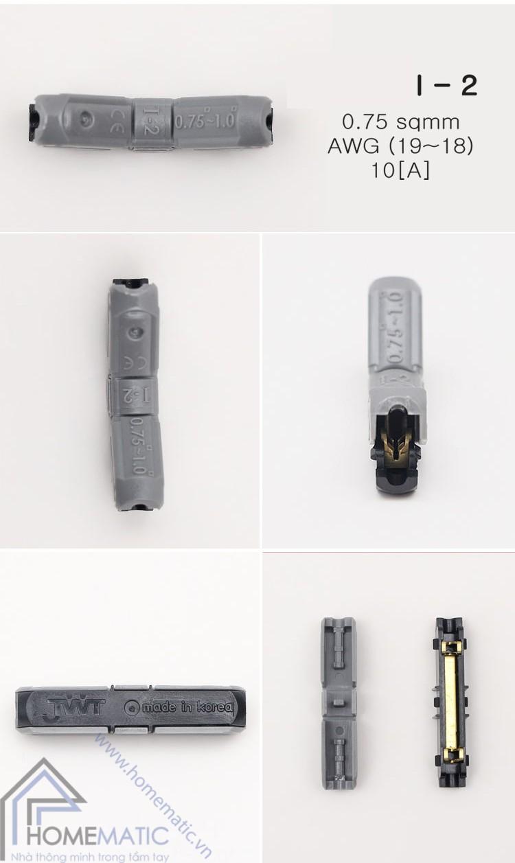 Cút nối thẳng chữ I dây điện đơn Hàn Quốc JOWX