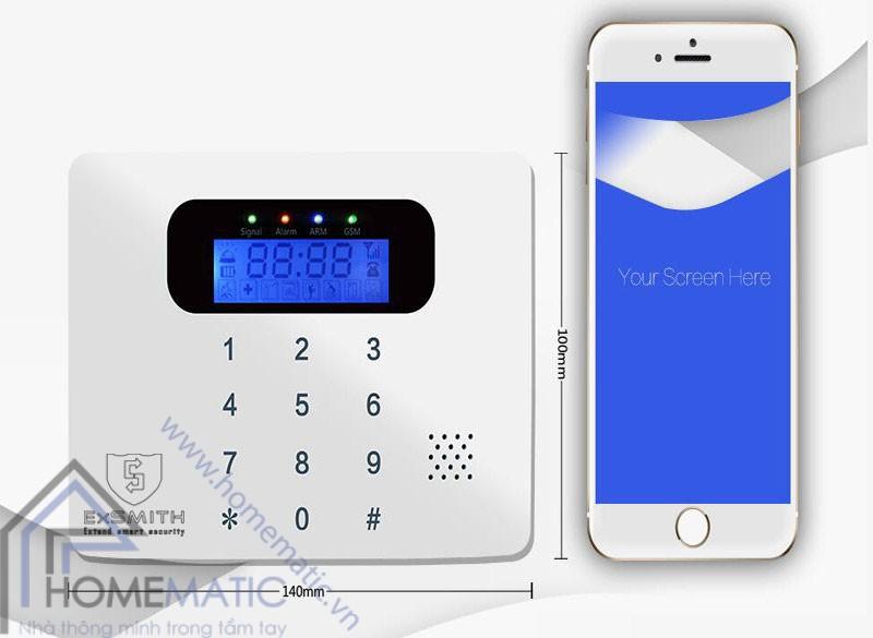 Trung tâm báo động qua sim điện thoại EXSMITH ES1718