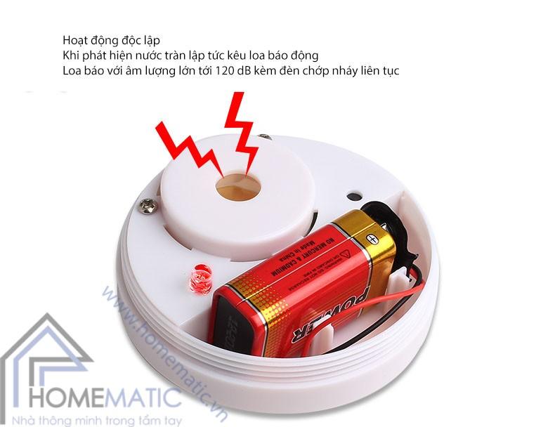 Cảm biến tràn nước có loa và đèn báo động HH-LS518B