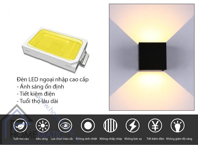 Đèn LED hắt có điều chỉnh hướng ánh sáng và chống nước ZZ-BD045