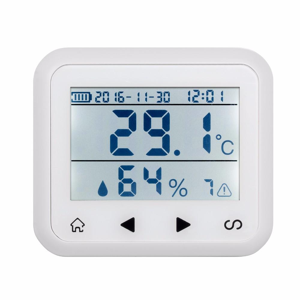Đồng hồ kiểm soát báo động nhiệt độ, độ ẩm phát sóng 433 Mhz KERUI KR-TD32