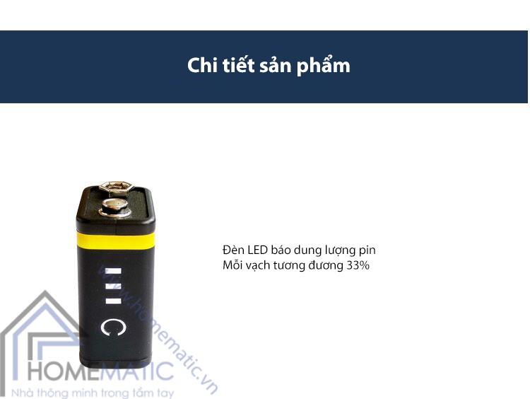 Pin sạc micro USB 9V-6F22 800 mAh  OKCELL T18287