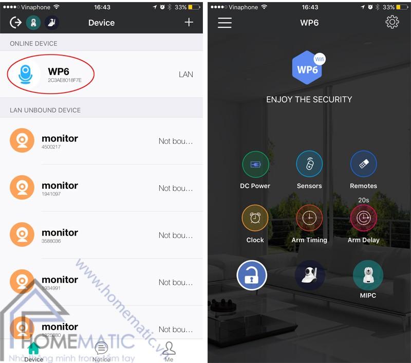 Bộ báo động chống trộm hồng ngoại học lệnh thông minh wifi KERUI KR-WP6